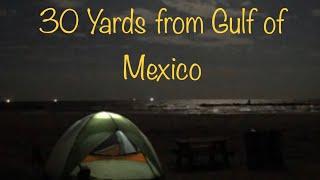 Tent Camping on tнe Beach - Grand Isle State Park - Louisiana