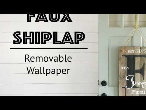 Removable Shiplap Wallpaper