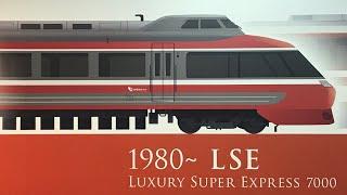 小田急 ロマンスカー 7000形 LSE 7004F ラストラン当日 はこね41号 箱根登山鉄道 箱根湯本駅到着 車窓