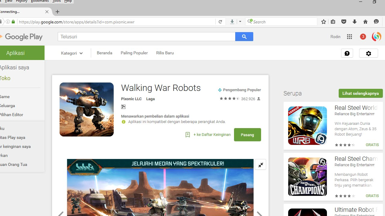 Cara Main Game Walking War Robot (WWR) di PC - YouTube