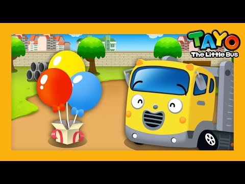 Carry the ballon l English Game #7 l Learn Street Vehicles l Tayo the Little Bus