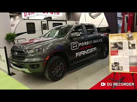 Salon du VR 2019 de Montréal. Pick-up Ford ranger camion. Roulotte winnebago. Remorquage.