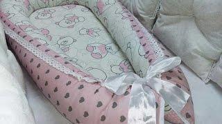 Гнездышко кокон для новорожденных своими руками пошив / babynest diy English subtitles