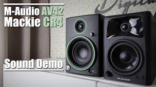 Mackie CR4 vs M-Audio AV42 || Sound Demo w/ Bass Test