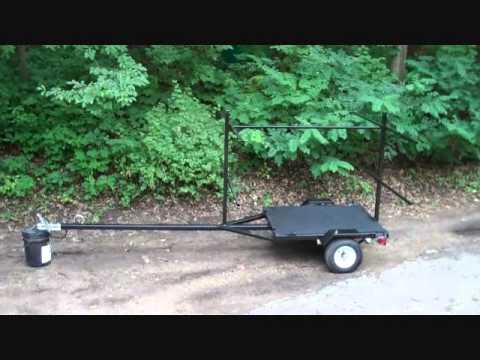 Diy Canoe Or Kayak Trailer Youtube