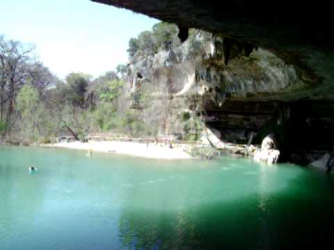 Inside Pool Cave hamilton pool - 180-degree view from inside the texas hill country