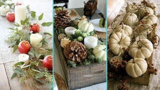 ❤ DIY chic style Fall Table Centerpiece decor Ideas❤ | Dining Room decor | Flamingo Mango