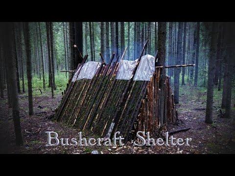 Построили Шалаш в Лесу. Бушкрафт.