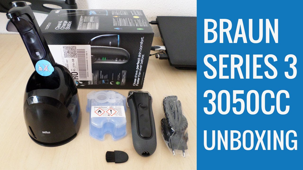 braun series 3 3050cc unboxing youtube. Black Bedroom Furniture Sets. Home Design Ideas