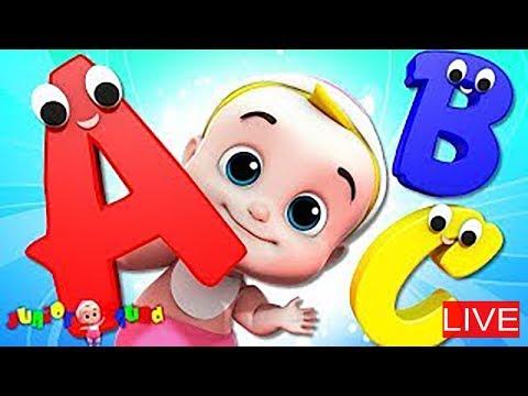 🔴 Cartoons For Toddlers   Nursery Rhymes by Junior Squad - Познавательные и прикольные видеоролики
