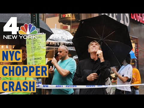 NYC Helicopter Crash: Witnesses Feel Boom As Chopper Comes Down on High Rise | NBC New York