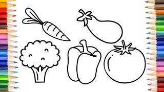 vegetables drawing easy draw step five