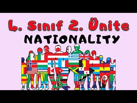 4. SINIF İNGİLİZCE 2. ÜNİTE NATIONALITY KONU ANLATIMI VE KELİMELERİ (ANİMASYONLU ANLATIM)