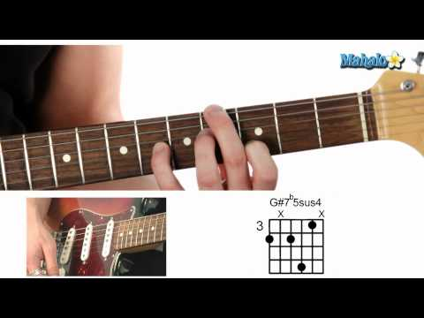 How to Play a G Sharp Seven Flat Five Suspended Four (G#7b5sus4) Chord on Guitar