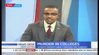 Murder in colleges as a student is found dead in a hostel in Mount Kenya university in Thika