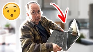 Surprising My Dad With A New Laptop