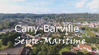 Cany Barville vue du ciel, Seine Maritime