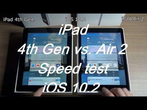 Apple iPad 4.th Gen. vs. Air 2 Vergleich Optik Abmaße Geschwindigkeit Leistung