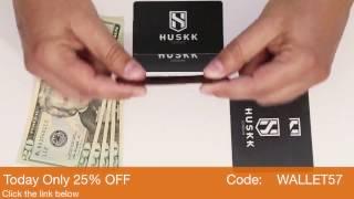 slim premium leather card holder front pocket wallet for men huskk