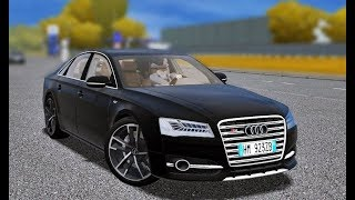 City Car Driving 1.5.5 - Audi S8 D4 4.0 TFSI V8 2016 by TJ   Custom SOUND   1080p & G27