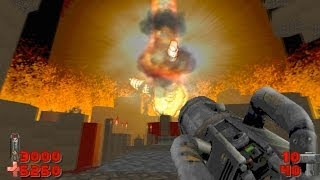 Doom 2 gameplay Icon of Sin mod boss fight with Russian Overkill mod