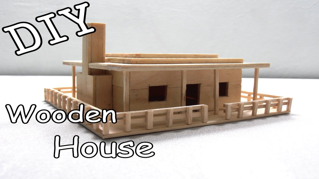 DIY Wooden House #10 (Popsicle Stick)