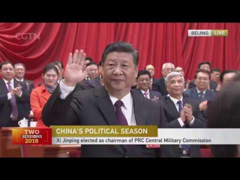 Xi Jinping elected chairman of Central Military Commission of PRC