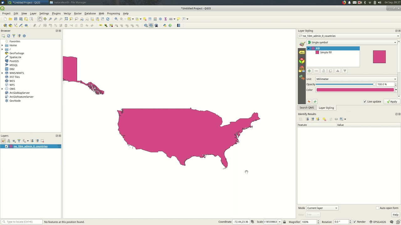 QGIS 3: Changing the project projection