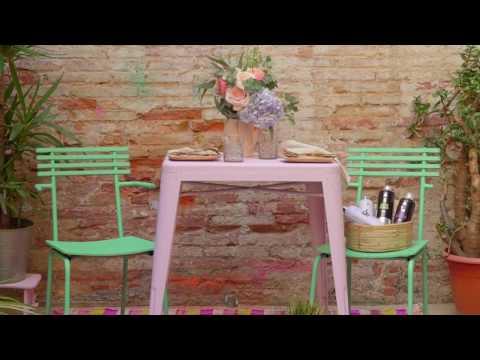 חידוש וצביעת שולחן וכסאות עם MTN 94
