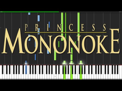 Princess Mononoke Medley [Piano Tutorial] (Synthesia) // ThePandaTooth