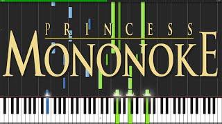 Princess Mononoke Medley [Piano Tutorial] (Synthesia) // ThePandaTooth