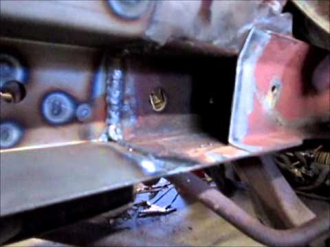 1965 Mustang Frame Rail Repair Part 2 Youtube