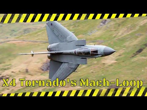 4 ship of Tornado's Mach Loop. 19/4/17
