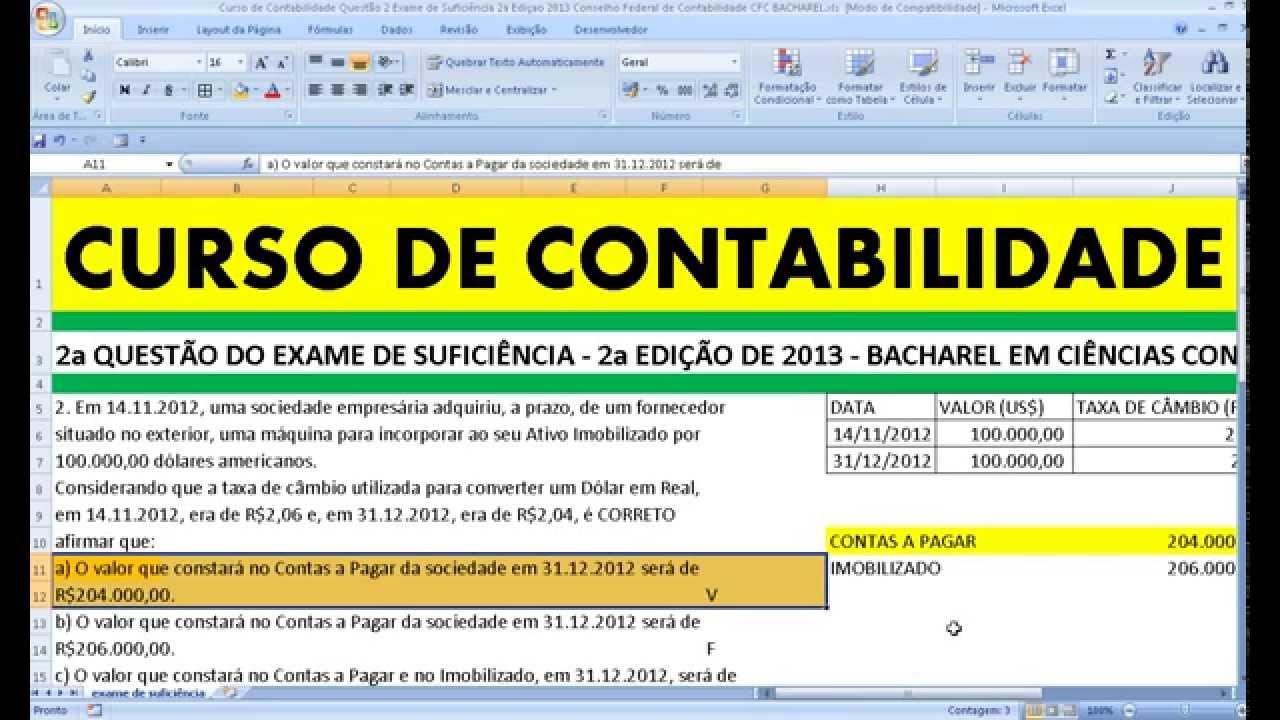 Cfc contabilidade exame de suficiencia