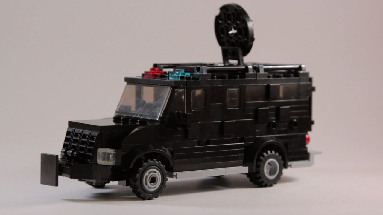 Custom LEGO Vehicle: Armored Police SWAT Truck [Instructions Download in  Description]