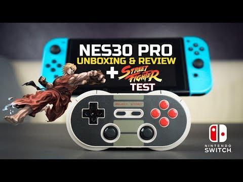 The Retro Nintendo Switch Pro Controller - NES30 Pro Unboxing & Review + Street Fighter Test