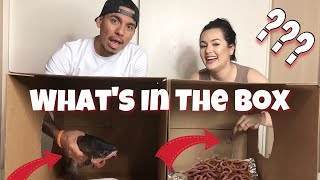 WHAT'S IN THE BOX CHALLENGE! Our Kids Picked Out Most Of The Items For This Challenge. I Was Super Scared!!! Watch our last ...