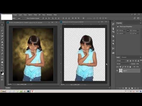 Cara Super Cepat Menghilangkan Background Photo Dengan Photoshop Youtube