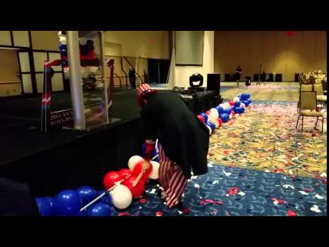 Popping Balloon Decorations at Tampa Convention Center