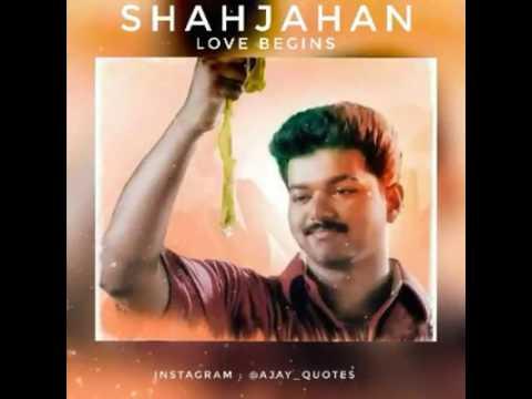 Shajahan Flute BGM   Melliname   Vijay