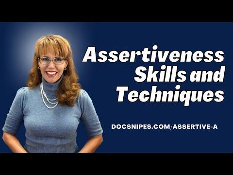 247  Assertiveness Skills And Techniques
