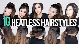 10 SUPER EASY Heatless Hairstyles for School/ Work   BeautywithTashy