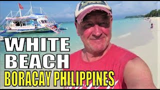 BORACAY ISLAND PHILIPPINES. White Beach Station 2 to Station 3 with Geoff Carter
