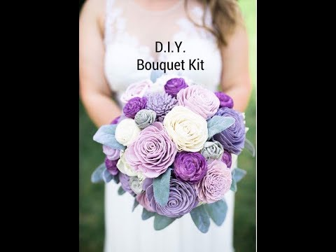 Wood Flower Bridal Bouquet. How to create your own bridal bouquet.