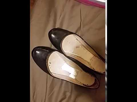 Ebay well worn black ballet flats