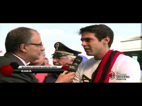 Kaka arrive Linate Airport with galliani