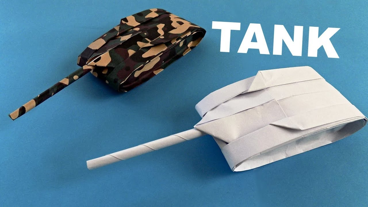 How To Make A Paper Tank Origami Tank Youtube