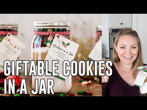 How To Make Giftable Cookies In A Jar