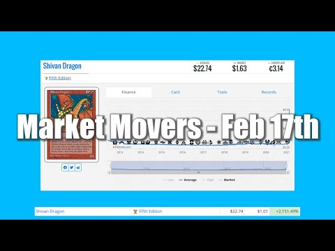 Magic The Gathering Market Movers - February 17th - Reserved List Buyouts Slow Down. Shivan Dragon!
