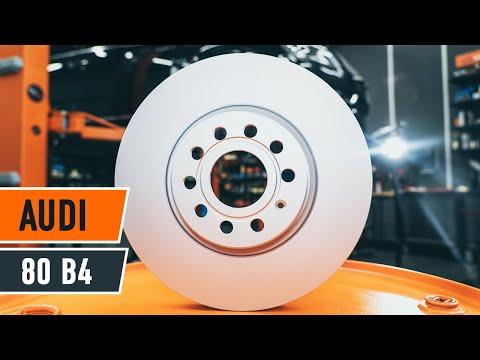 Wie AUDI 80 B4 Bremsscheiben vorne und Bremsbeläge vorne wechseln TUTORIAL | AUTODOC